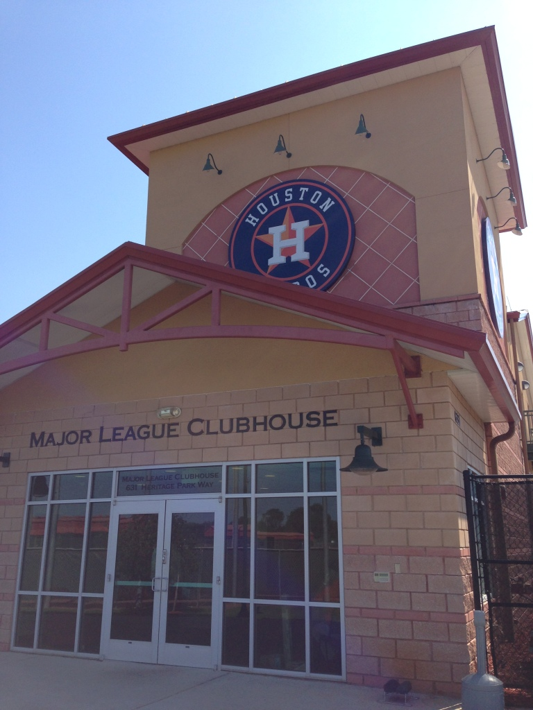 Entrance to Major League clubhouse and administrative offices.