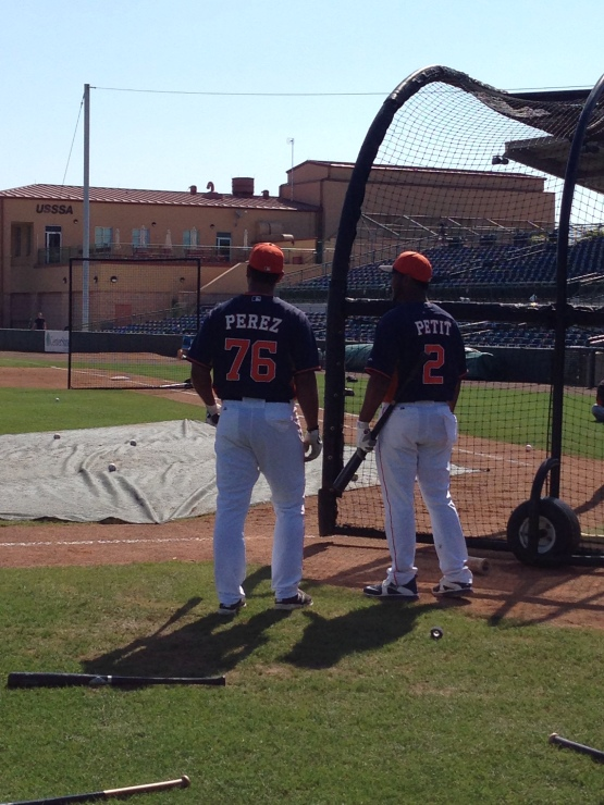 Two players likely to start the season in Oklahoma City: Carlos Perez and Gregorio Petit.