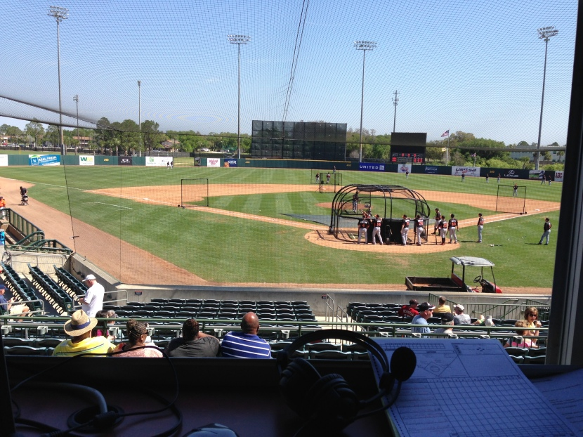 View from the booth.