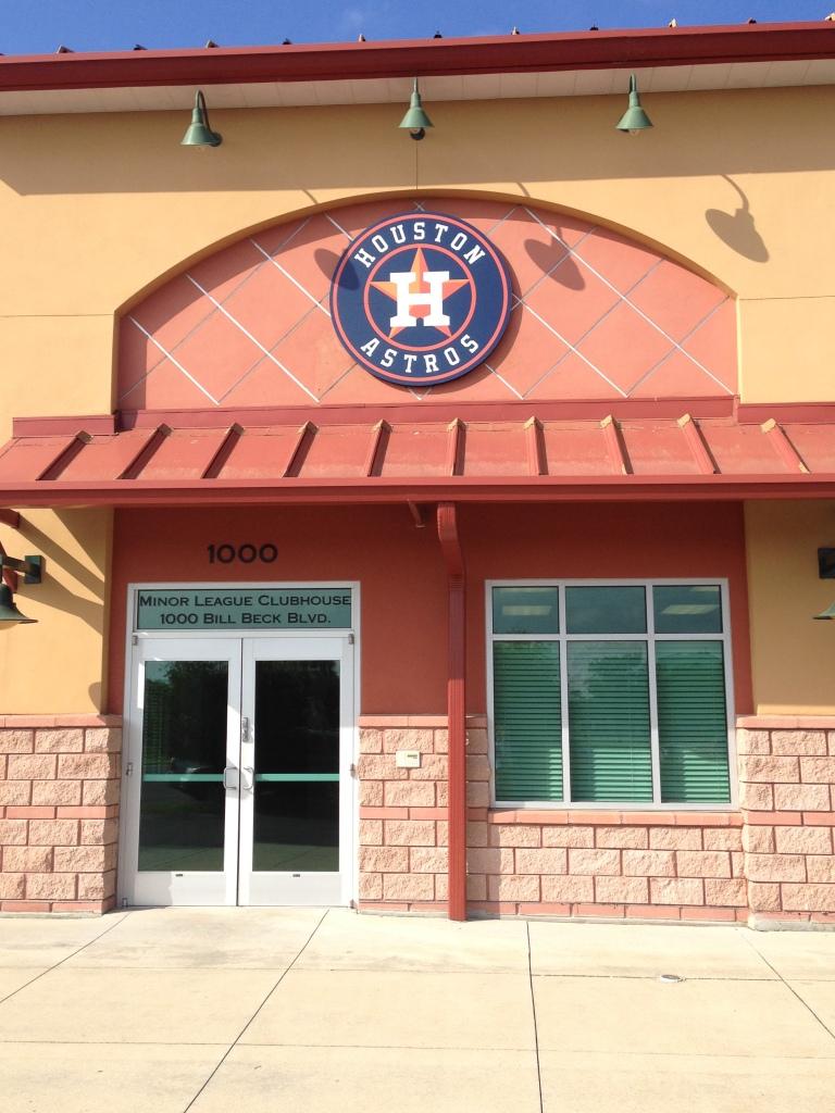 Minor league clubhouse entrance.